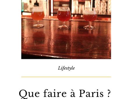 Que faire à Paris ? Brasserie O'neil | Sortie