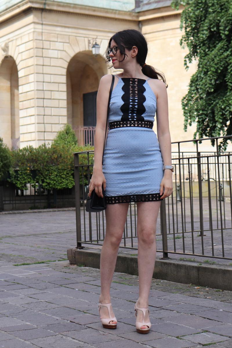 photo de rosepaillettee dans une robe topshop