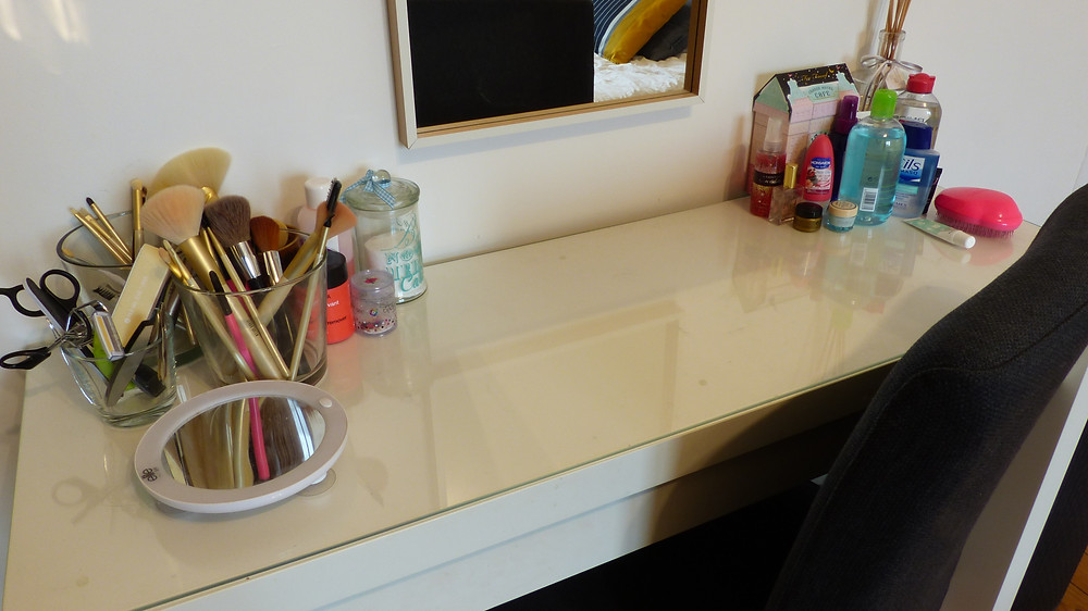 image de la coiffeuse de rosepaillettee de chez ikea