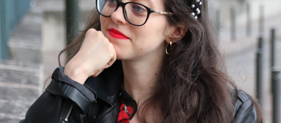 Un look rock n'roll avec la robe à fleur | OOTD