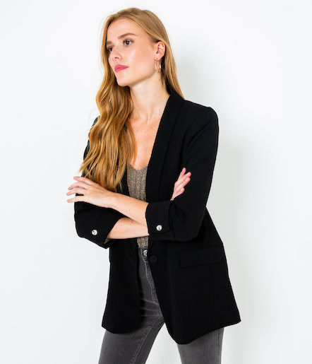 Veste blazer noir Camaïeu