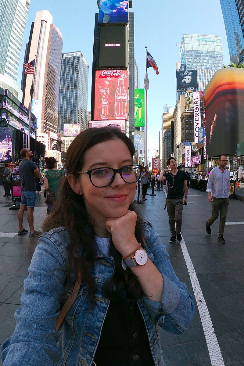 Claire à Times square