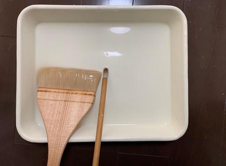 日本画制作課程 :真綿箔2