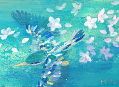 日本画制作過程:真綿箔