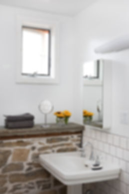 bathroom, stonehouse, subwaytiles, farmsink,