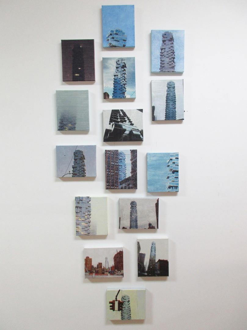 Junko Yoda Tribeca Sky 2018 photo collage with washi and acrylic on canvas 80 x 34 .jpg