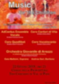 volantino Music for the children 22 giug