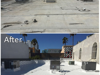 Santa Monica Commercial Cool-Roof Acrylic Coating System