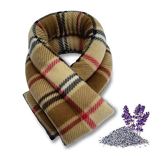 Heated herbal microwavable neck wrap.