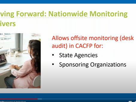 USDA Provides Clarification of Monitoring Waivers