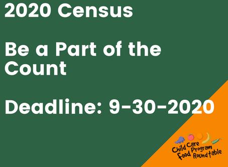 2020 Census - Deadline Changed to September 30