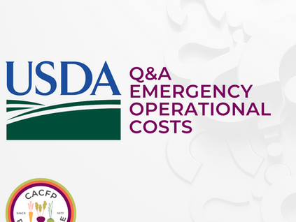 USDA Releases Q&A for CACFP Emergency Operational Costs Reimbursement Programs