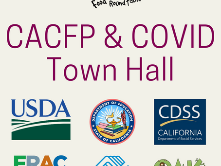 See what USDA, CDE, FRAC, Boys & Girls Club and OAK had to say at our 6th Town Hall