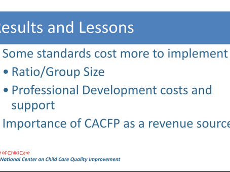 "See the impact of the ""new normal"" on provider costs AND show the benefit of CACFP participation"