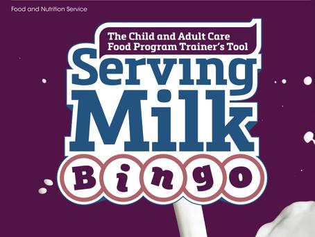 Serving Milk Bingo Game from Team Nutrition