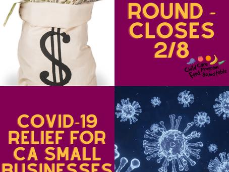California Small Business COVID-19 Relief Grant Program Closes February 8