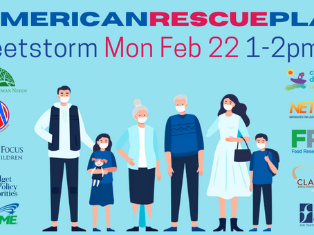 National Day of Action to Urge Passage of #AmericanRescuePlan - 2/22/21