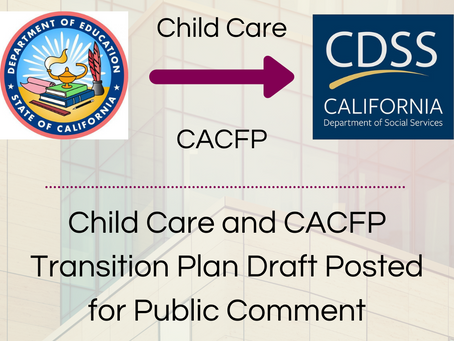 Sample Comments for CDSS Draft Transition Plan Survey
