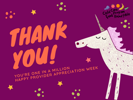 Provider Appreciation Week - Thank you, Child Care Providers.  Thank you.