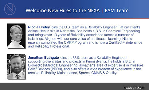 NEXA-LinkedInPost-New Reliability Eng Hi