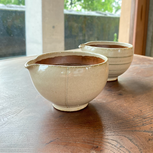 すり鉢(中)乳白2色ライン