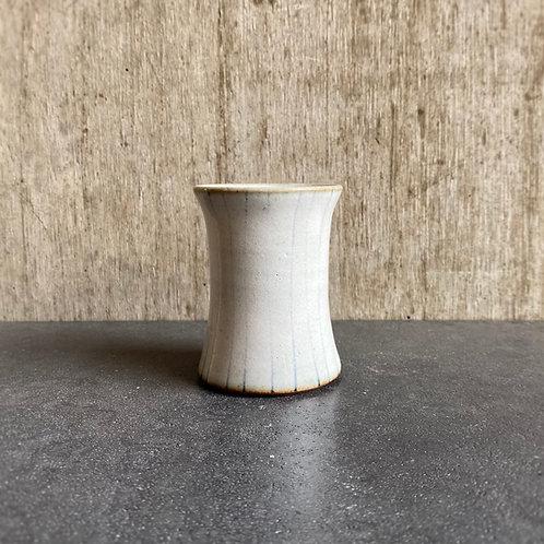 椿cup  白釉ストライプ