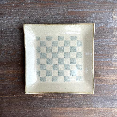 四方皿(大)乳白
