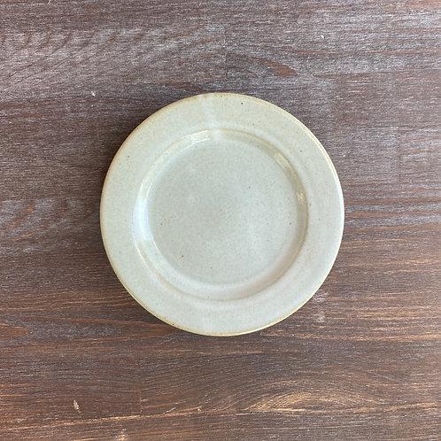 リム皿 5寸 白釉