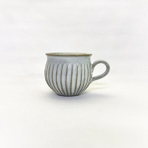 鎬マグカップ 白釉