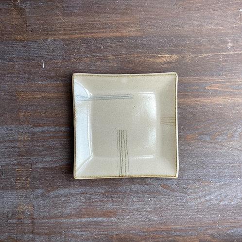 四方皿(小)乳白