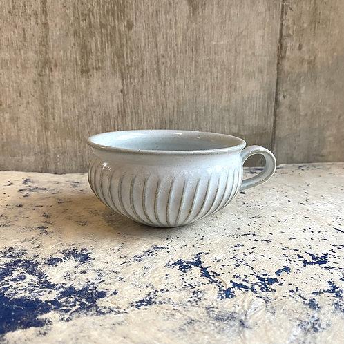 鎬スープカップ 白釉