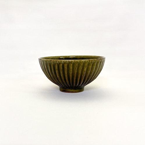 鎬飯碗 緑釉