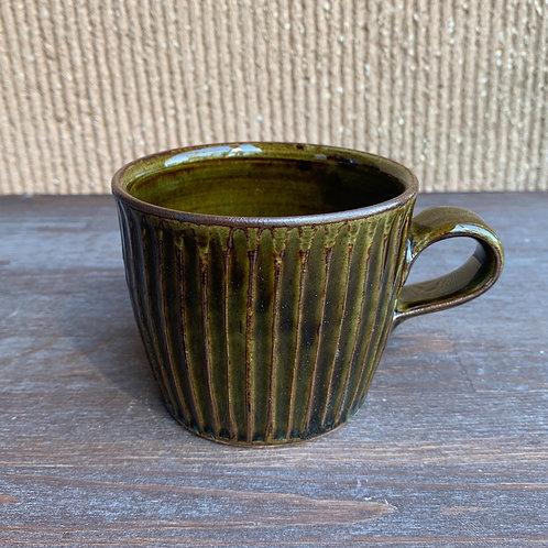 鎬ストレートマグ 緑釉
