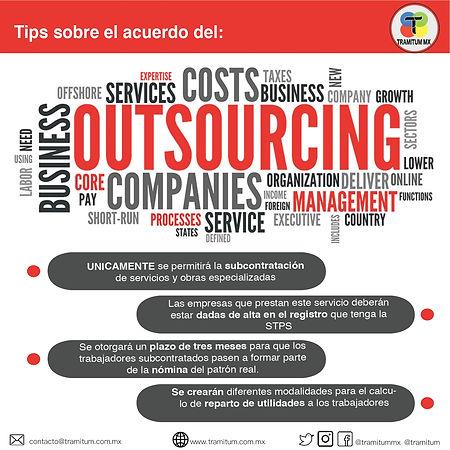 TIPS SOBRE EL ACUERDO DEL OUTSOIURCING