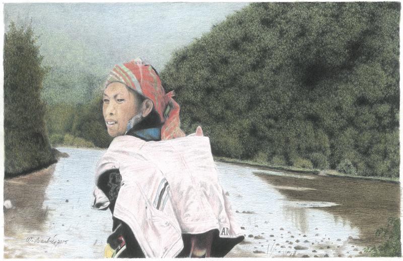 Jeune mère à Sapa