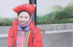 vietnamienne au chapeau rouge