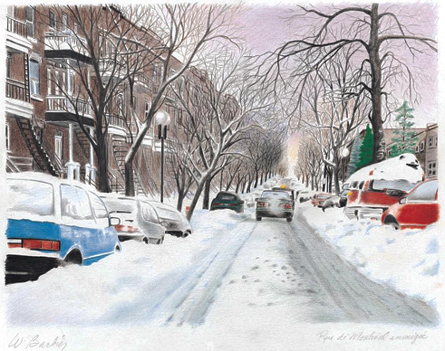Rue de Montréal / Snowy Street