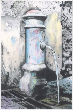 Petite fontaine à Rome