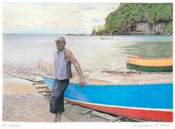 Pêcheur à St-Lucia, Antilles