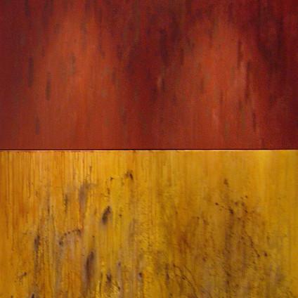 Díptico Vermelho com Tempestade de Areia, 2011