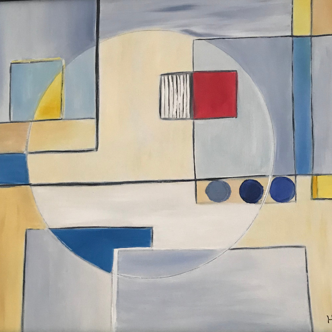 Abstract in Blue and Gold