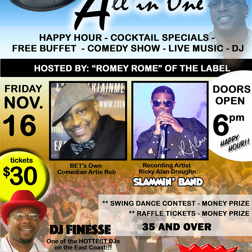 All In One Comedy Live Band Live DJ