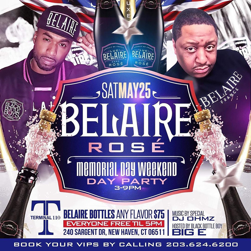 Memorial Day Weekend Sponsored Belaire Rose' Hosted by Black Bottle Boys