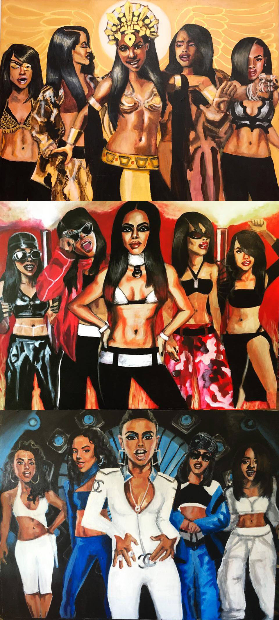 Dairo Mohr Aaliyah Triptych