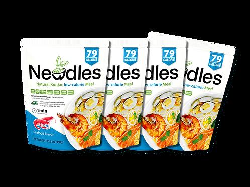 Newdles Seafood Flavor Meal ×4