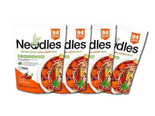 Newdles Spiced & Sour Flavor Meal ×4