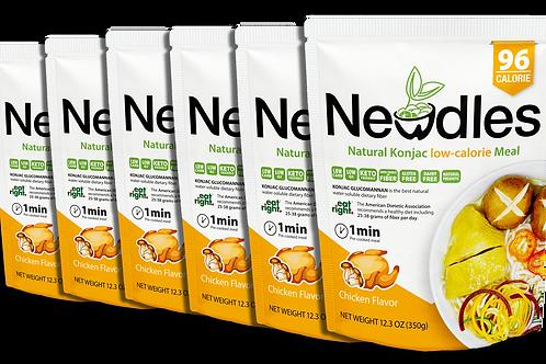 Newdles Chicken Flavor Meal ×6