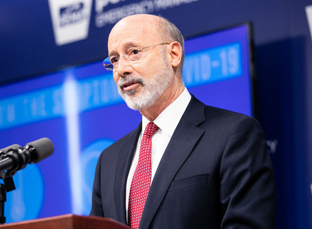 Governor Tom Wolf announced that all schools will remain closed