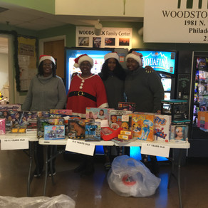 MYS Donates to to Woodstock Family Center Families
