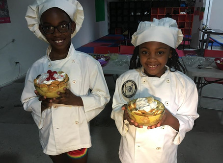 "Motivated's Kids Can Cook Culinary Club with Chef Bernard"" is booming.  Participants are loving it!"